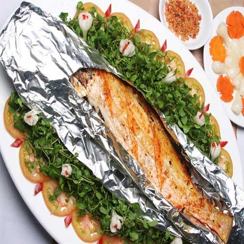 Cá mú nướng giấy bạc
