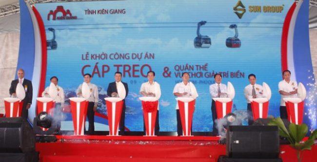 Cáp treo Hòn Thơm sẽ bắt đầu hoạt động vào tháng 12/ 2017