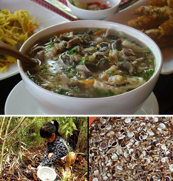 Canh nấm tràm hải sản Phú Quốc
