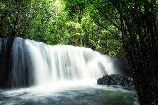 Vườn quốc gia còn được tô điểm bởi màu trắng của những dòng suối